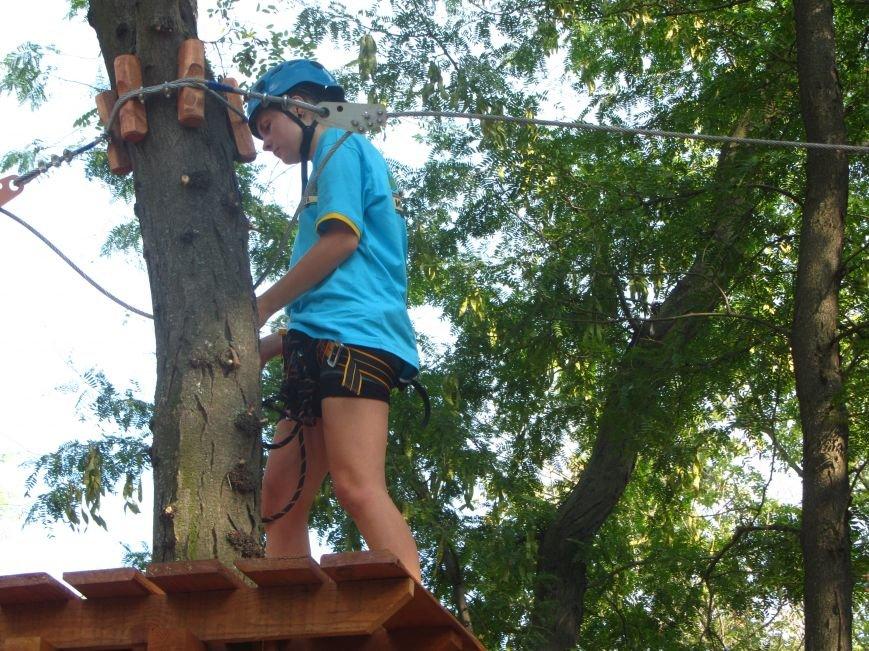 В Днепропетровске открылся новый веревочный парк с велосипедами на деревьях, фото-3