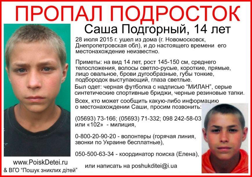 Милиция и волонтёры ищут подростка, который может объявиться в Днепродзержинске (фото) - фото 1