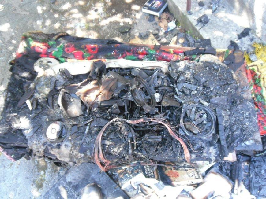 В Днепродзержинске загоревшийся телевизор едва не погубил мать с детьми, фото-1