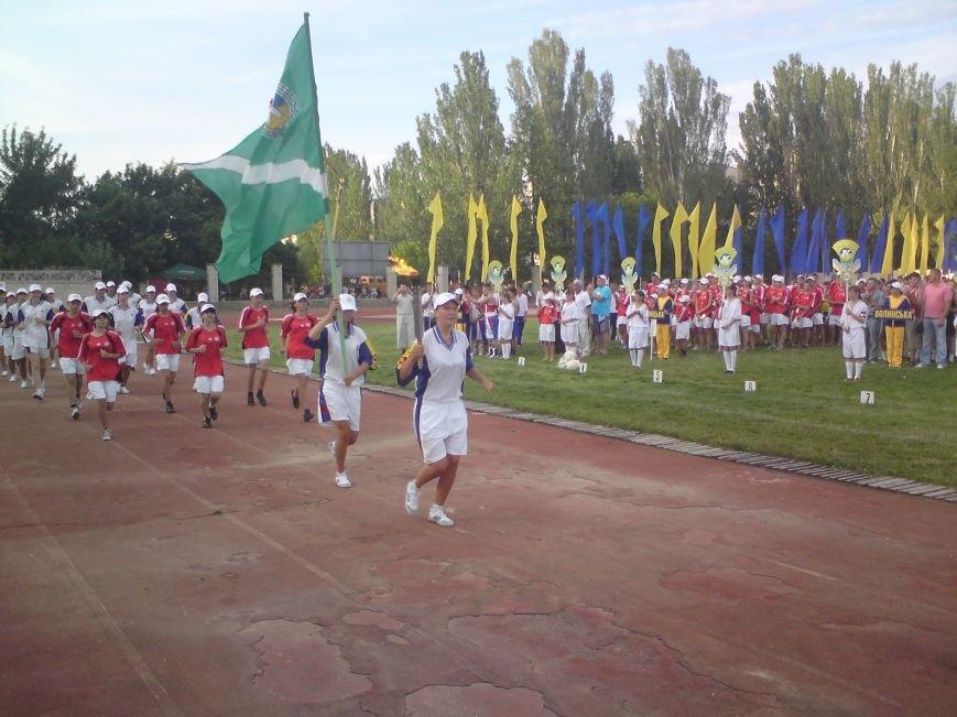 Естафета олімпійського вогю у Скадовську