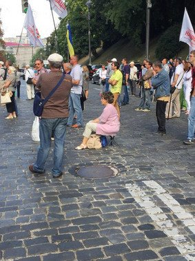 В Киеве митингующие перекрывали улицу Грушевского (ФОТО) (фото) - фото 1