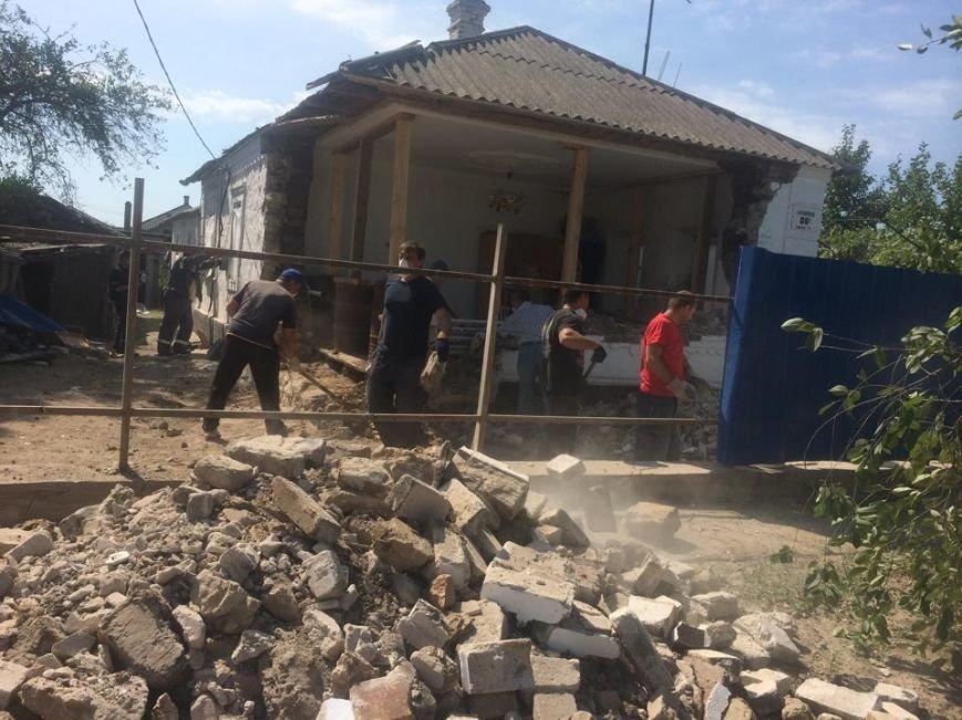 В поселке Сартана начали восстанавливать разрушенные дома (ФОТО), фото-1