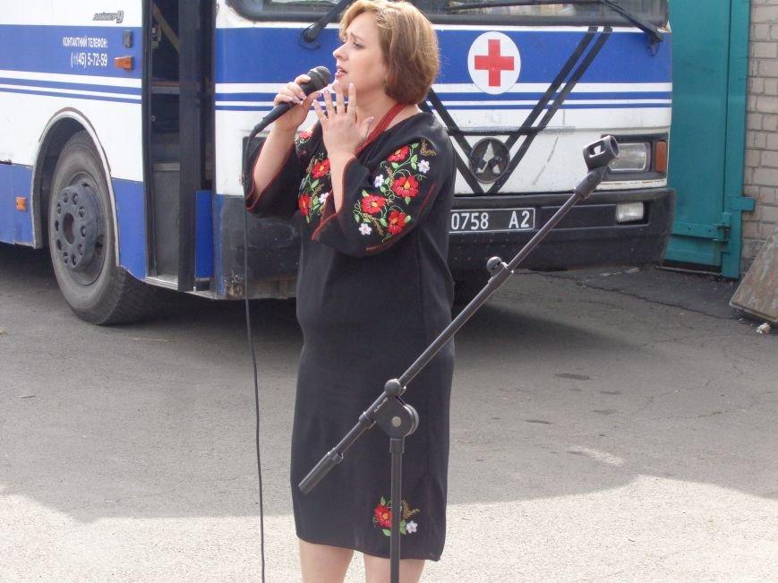«Ми - нащадки древнього, прекрасного, бойового роду» - таланты Красноармейска выступили для 66-го военного мобильного госпиталя (ОБНОВЛЕНО) (фото) - фото 3
