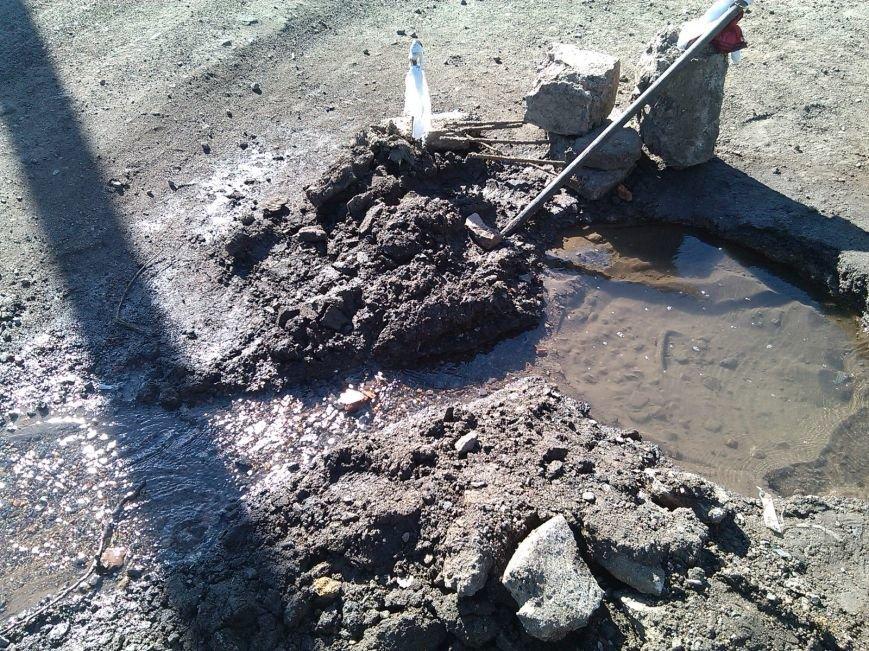 После наполнения водоводов продолжают заполняться водой и улицы Димитрова (фото) - фото 2