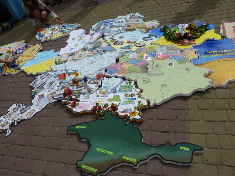 Тернопільські студенти у рамках флешмобу створили карту України (фото) (фото) - фото 1