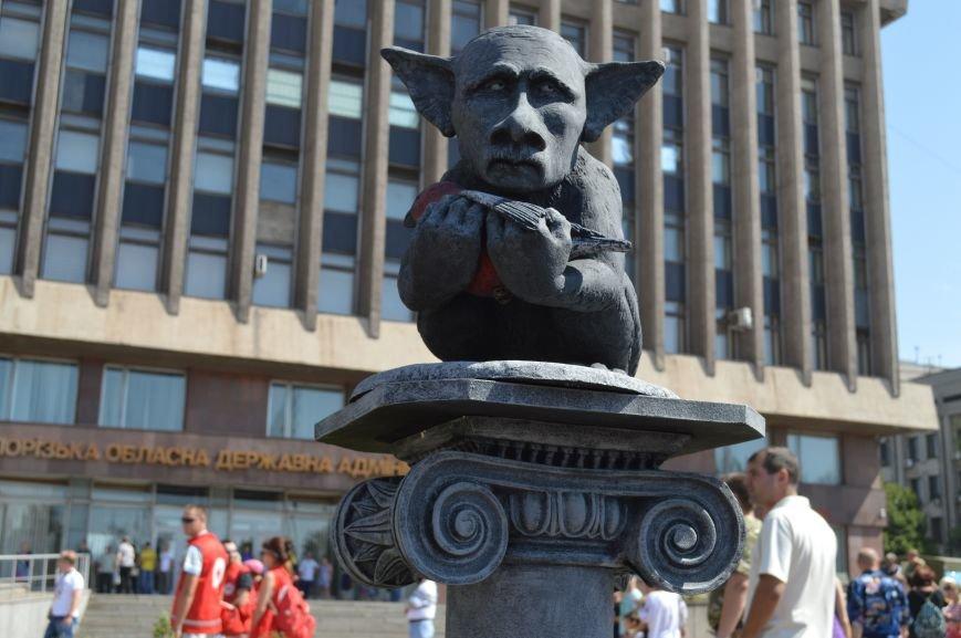 В Запорожье установили памятник русскому миру, скорбящему над снегирем (ФОТО), фото-2