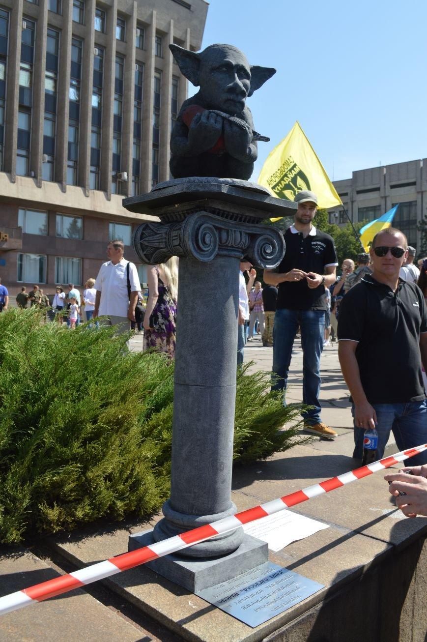В Запорожье установили памятник русскому миру, скорбящему над снегирем (ФОТО), фото-7