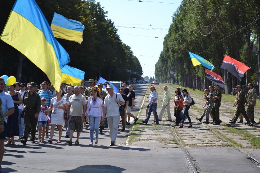 Патриотическим маршем отметили в Днепродзержинске День Независимости Украины, фото-4