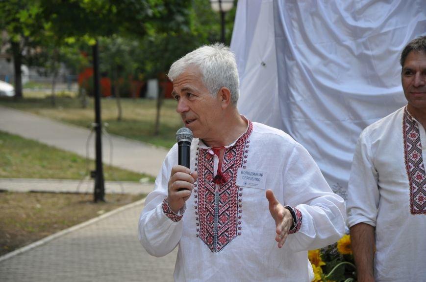 В Краматорске открыли памятник казаку Мамаю, фото-3