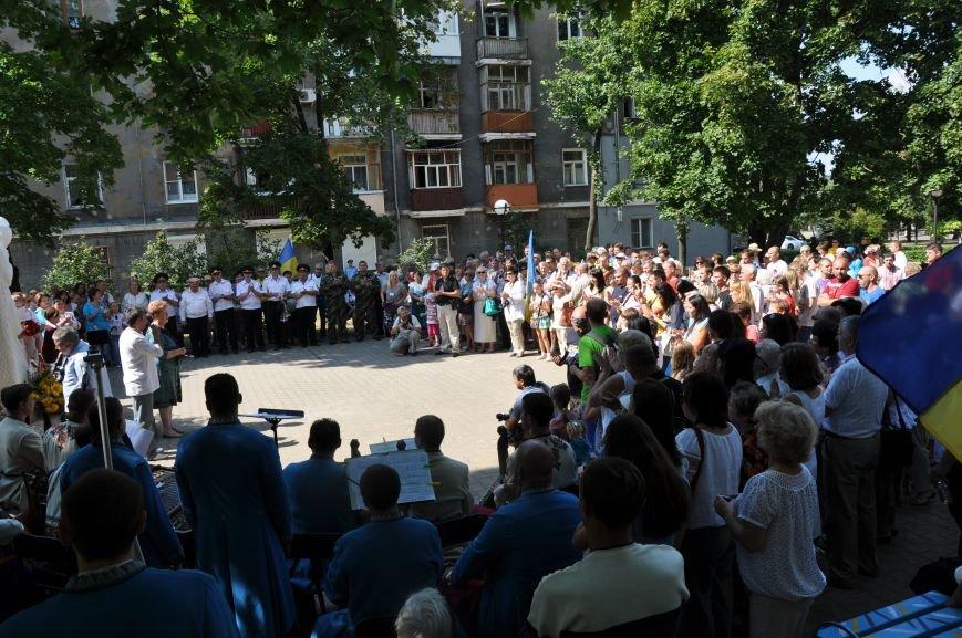 В Краматорске открыли памятник казаку Мамаю, фото-9