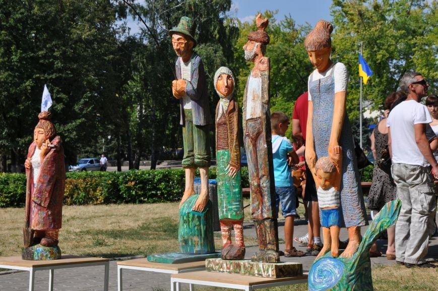 В Краматорске открыли памятник казаку Мамаю, фото-15