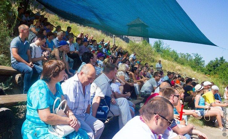 На Хортице в День Независимости выступил театр казацкого боя (ФОТО) (фото) - фото 8