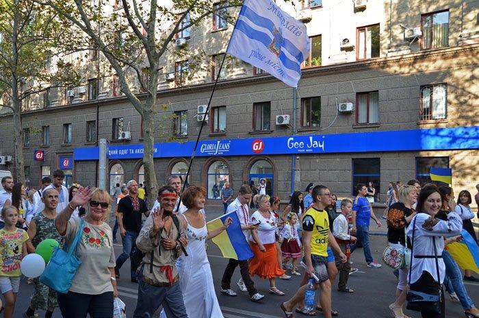Николаевцы отметили День Независимости в вышиванках и с флагами (ФОТОРЕПОРТАЖ), фото-6