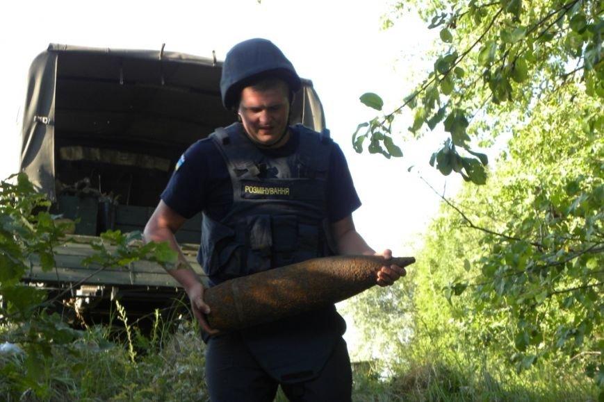 На окраине Чернигов обнаружен снаряд времен войны (фото) - фото 1