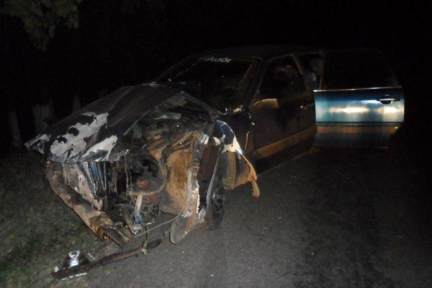 В Белгородской области девушка на «Ауди» вылетела с дороги и врезалась в дерево (фото) - фото 1