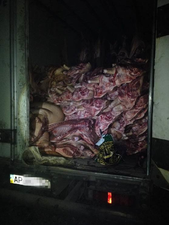 Грузовик с 13 тоннами мяса не доехал до «ДНР» (ФОТО) (фото) - фото 1