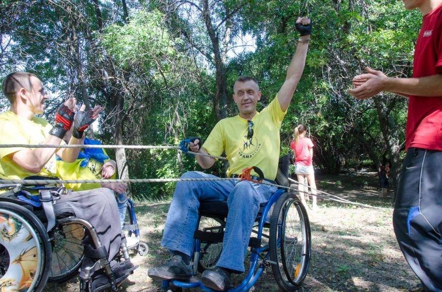 Инвалиды в Краматорске занимались альпинизмом (ФОТО, ВИДЕО), фото-11