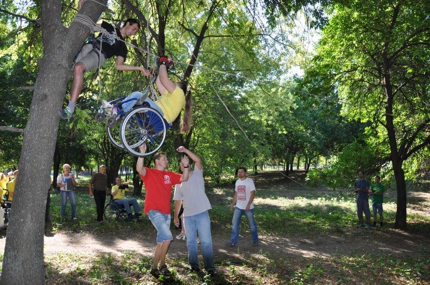 Инвалиды в Краматорске занимались альпинизмом (ФОТО, ВИДЕО), фото-6