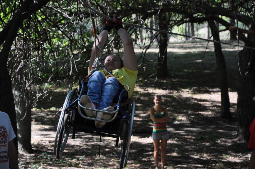 Инвалиды в Краматорске занимались альпинизмом (ФОТО, ВИДЕО), фото-8