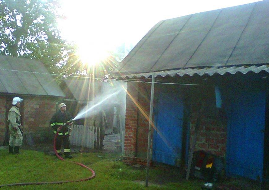 На Полтавщині ледь не згорів житловий будинок (фото) - фото 1
