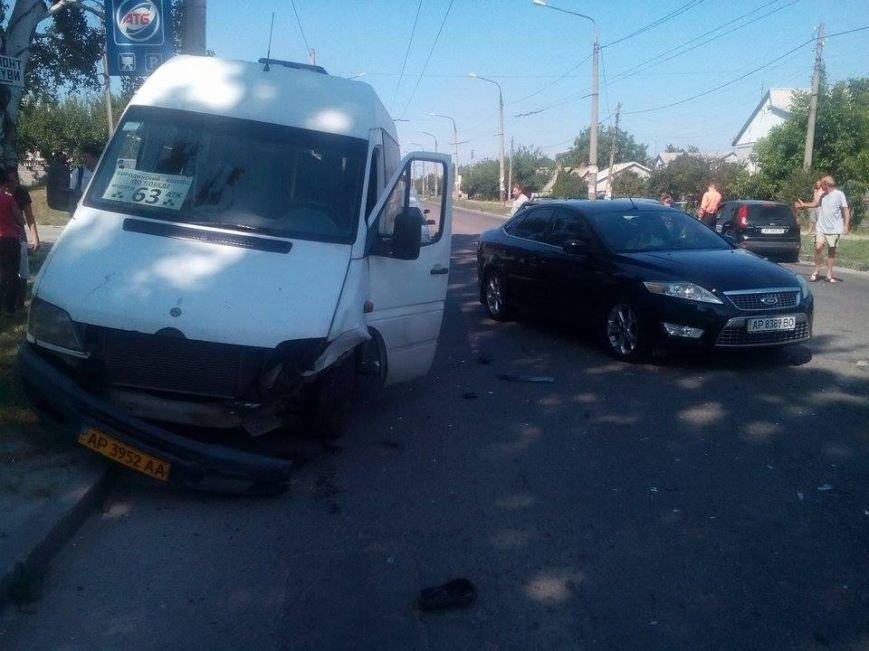 В Запорожье на «Космосе» маршрутка врезалась в автомобиль (ФОТО), фото-5