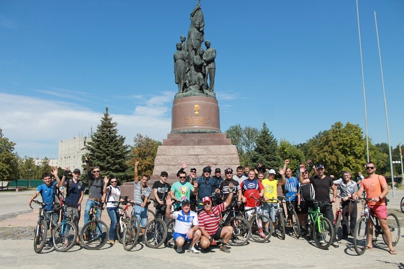 К Дню шахтера сотрудники «Краснодонугля» устроили велопробег (ФОТО), фото-4