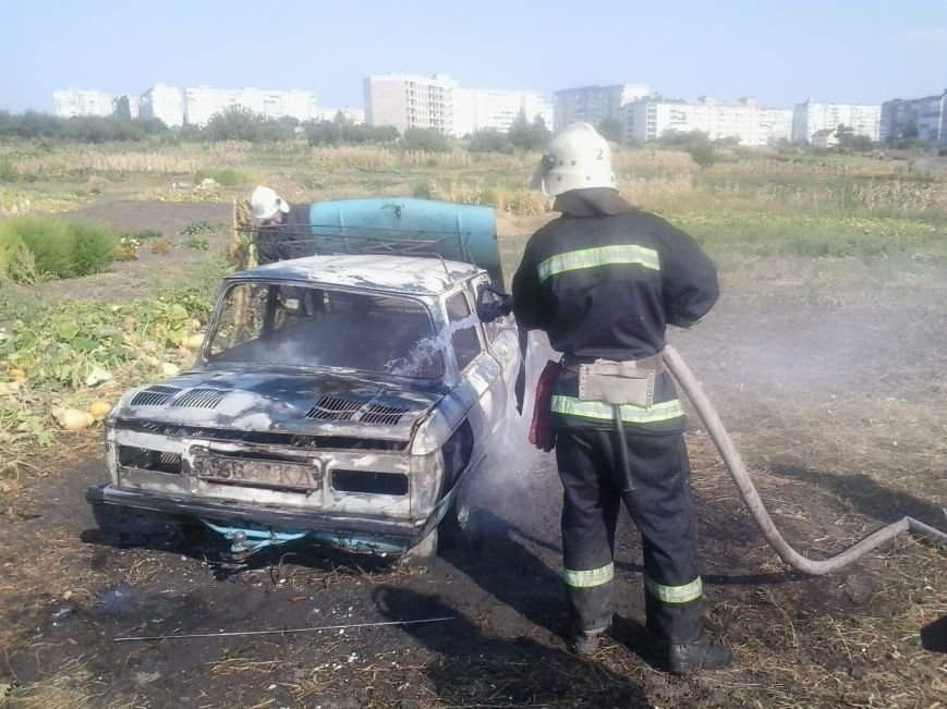 В Кировограде сгорел автомобиль., фото-1