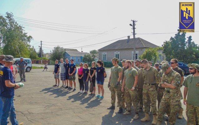 Бойцы «Азова» присоединились к восстановлению Сартаны (ФОТО) (фото) - фото 1