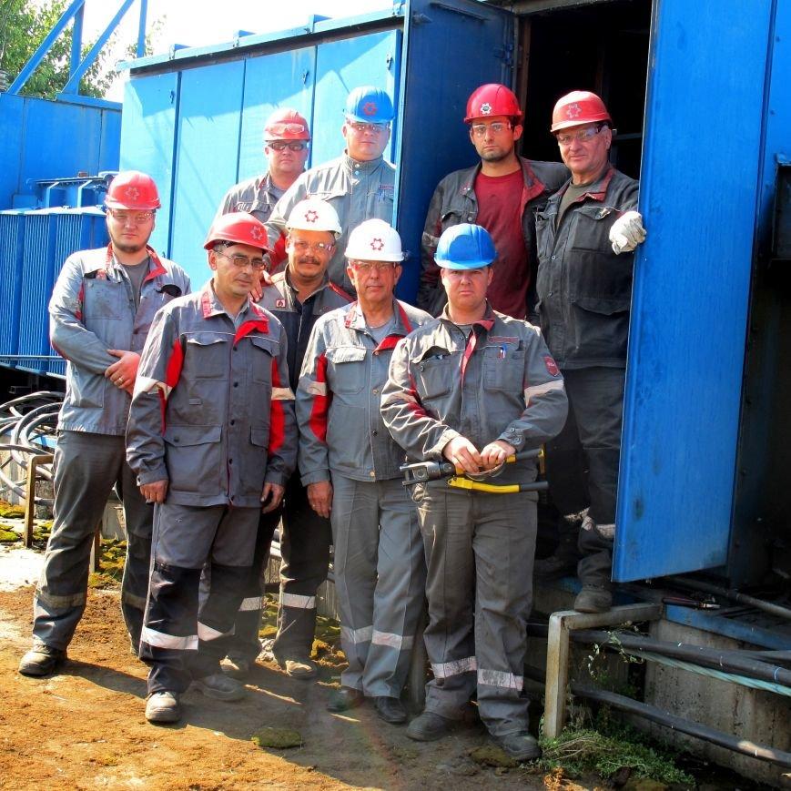 Коллектив ЭРЦ на подстанции №44, питающей очистные сооружения