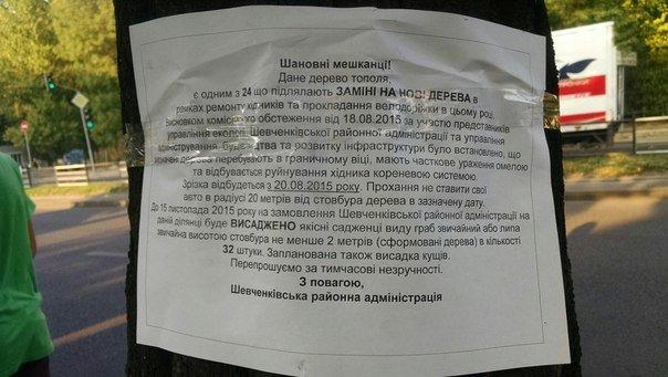 На проспекті Чорновола зріжуть здорові дерева (ФОТО) (фото) - фото 1