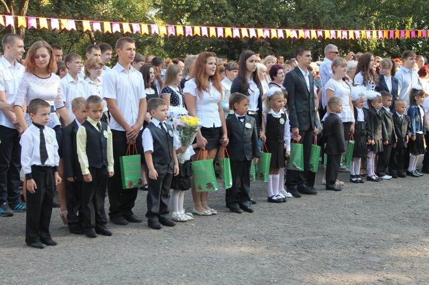 Часовоярских школьников поздравить с началом учебного года приехал мэр Артемовска, фото-1