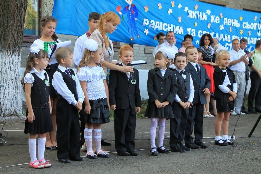 Часовоярских школьников поздравить с началом учебного года приехал мэр Артемовска, фото-7