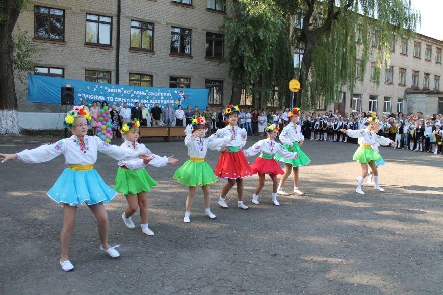 Часовоярских школьников поздравить с началом учебного года приехал мэр Артемовска, фото-3