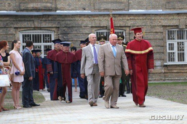 В ГрГУ им Купалы появилась площадь университетского флага (фото) - фото 2