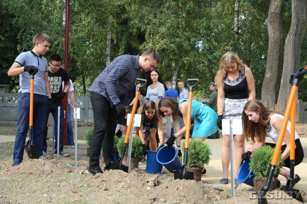 В ГрГУ им Купалы появилась площадь университетского флага (фото) - фото 4