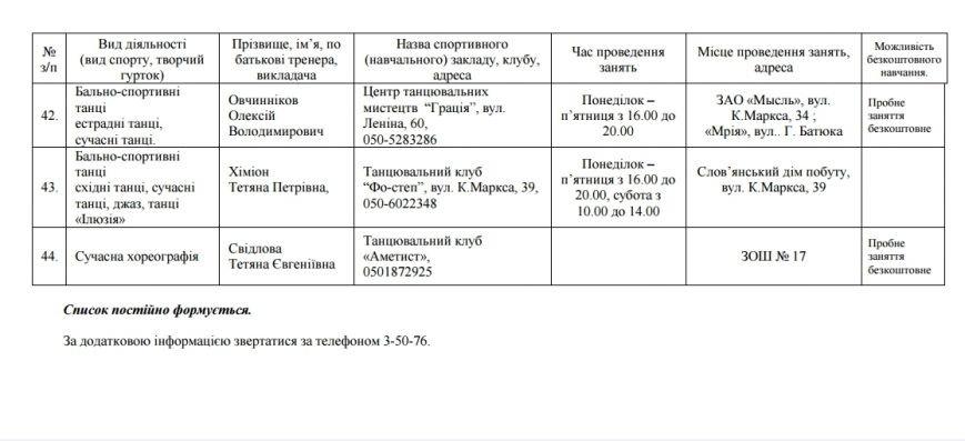 Дополнился список секций для детей Славянска (фото) - фото 1