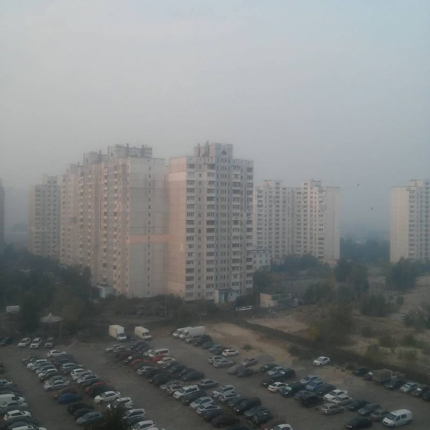 Киев заволокло едким дымом (ФОТО) (фото) - фото 1