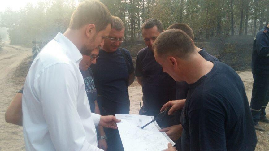 В Дарницком лесхозе горит 15 га леса, - ГСЧС (ФОТО, ВИДЕО) (фото) - фото 1