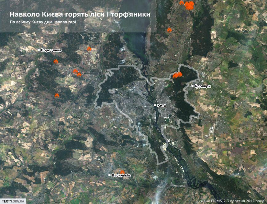 Киев и Москва тоже в дыму – вокруг столицы Украины 8 пожаров, в столице РФ горит аэропорт «Домодедово» (фото) - фото 1