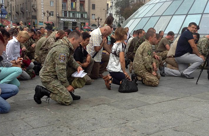 На Майдане простились с погибшим в АТО волонтёром Андреем Галущенко (ФОТО) (фото) - фото 1