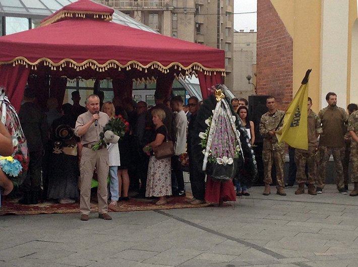 На Майдане простились с погибшим в АТО волонтёром Андреем Галущенко (ФОТО) (фото) - фото 3