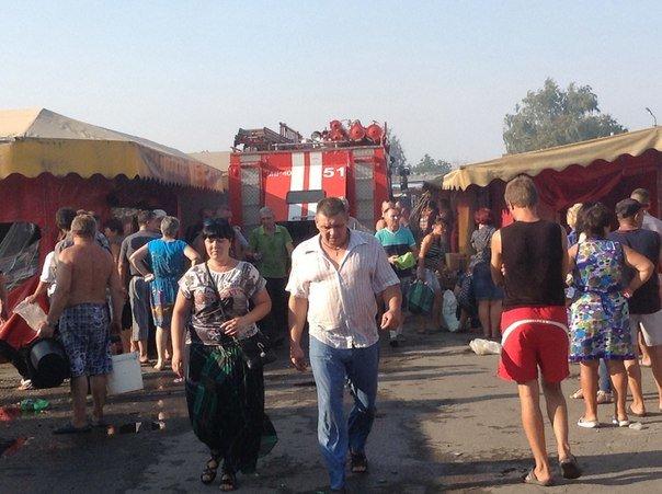 В Красноармейске горел «Центральный» рынок (фото) - фото 1