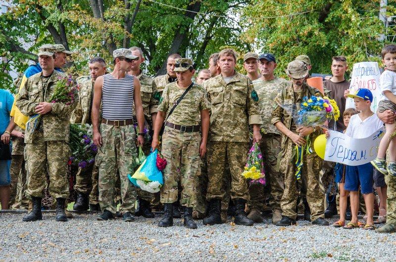 На Днепропетровщине встретили демобилизованных бойцов 43-го батальона (фото) - фото 13