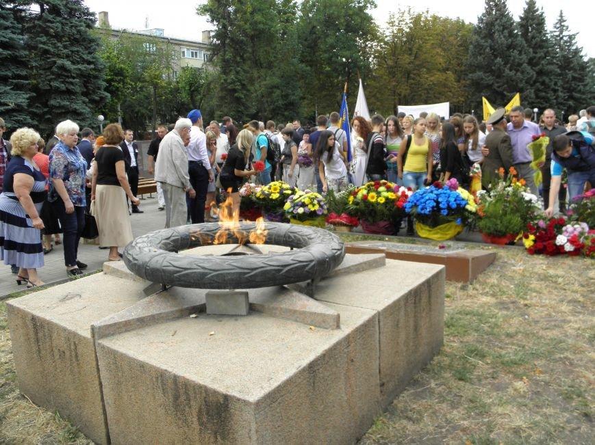В Краматорске возложили цветы к Вечному огню (фото) - фото 7