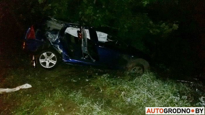 В Гродно пьяный водитель, имеющий 28 судимостей, врезался в столб: двое его пассажиров госпитализированы (фото) - фото 1