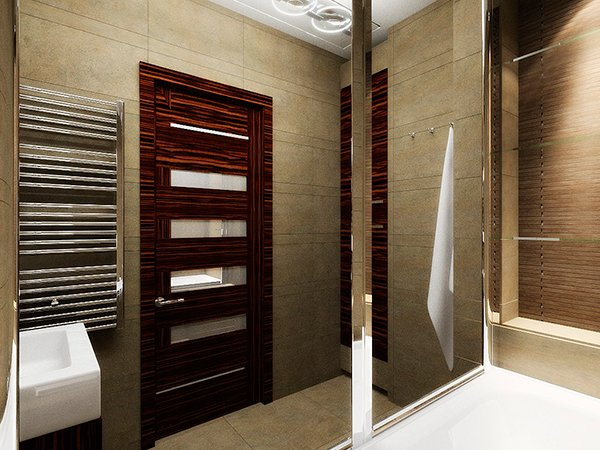 Двери в ванную с влагоотталкивающим покрытием