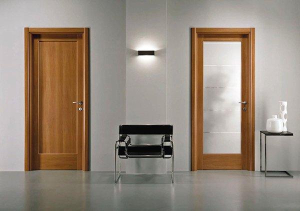 Двери со стеклянными вставками или цельные деревянные