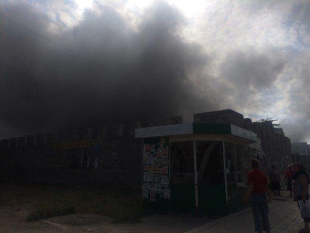 В Мариуполе горит Киевский рынок (ФОТО+ВИДЕО+ДОПОЛНЕНО), фото-2