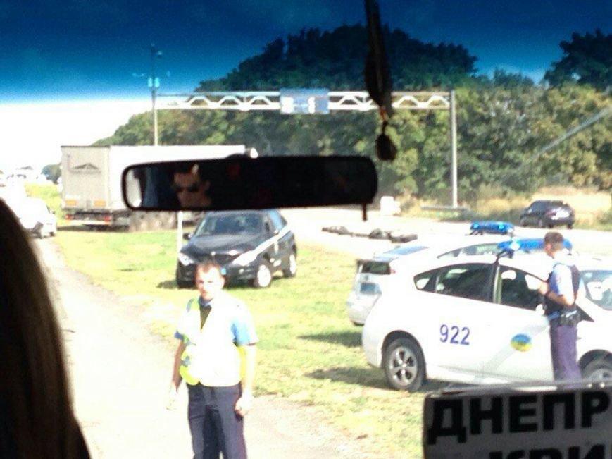 Что случилось на блокпосту возле быка на подъезде к Днепродзержинску (фото) - фото 1