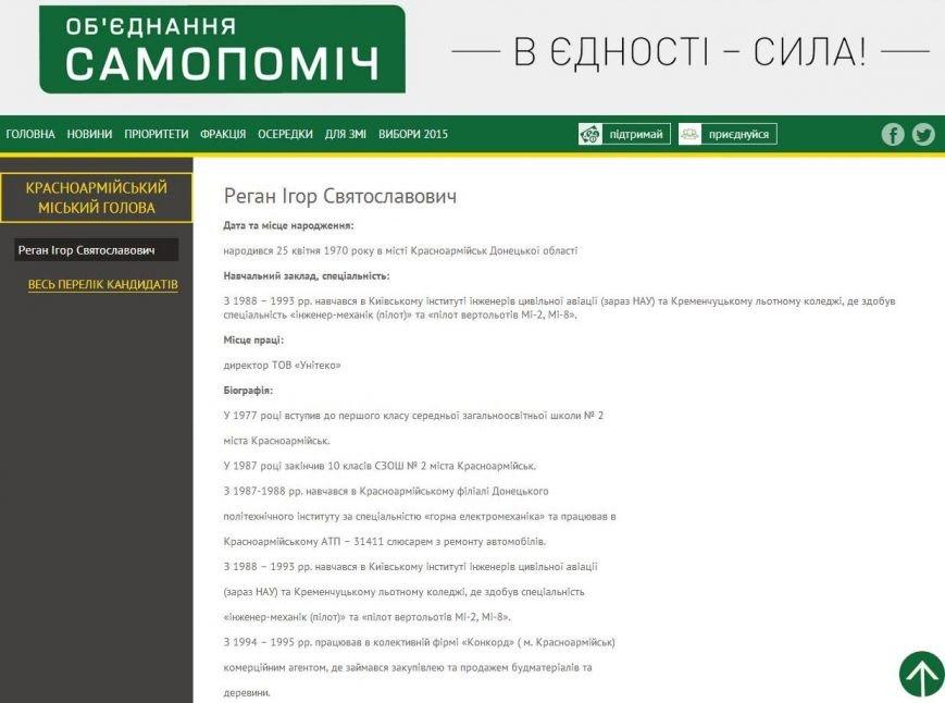 Мэром Красноармейска может стать кандидат от «Самопомощи» (фото) - фото 1